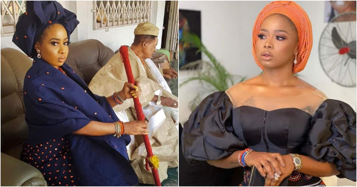 Her royal majesty - Alaafin of Oyo's wife Queen Ola hails herself on Instagram