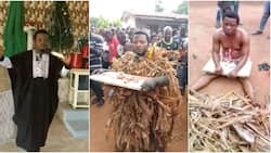 Pastor caught and disgraced after planting charm on cousin's land to extort him (photos)