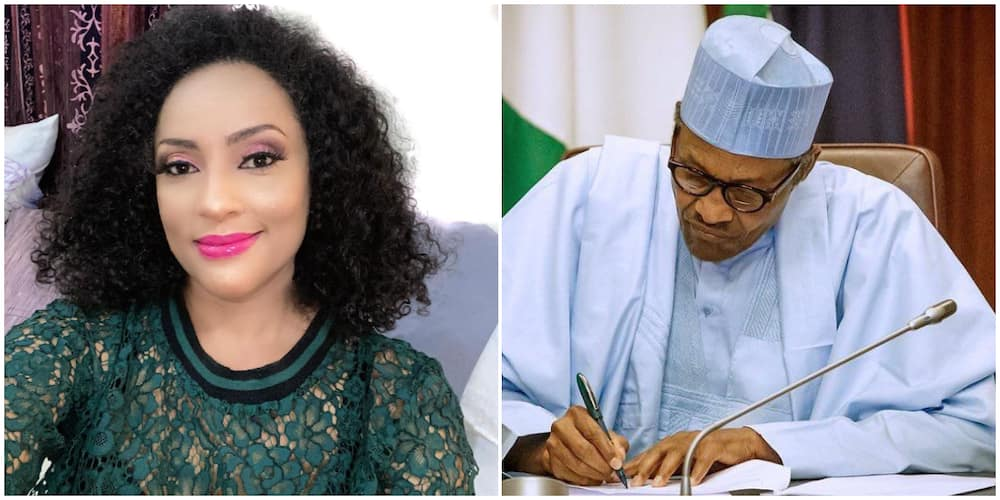 Actress Lilian Bach calls on President Buhari over state of the nation