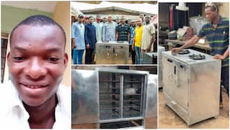 Nigerian man who went viral for building gas cooker with local material reveals govt gave him some money