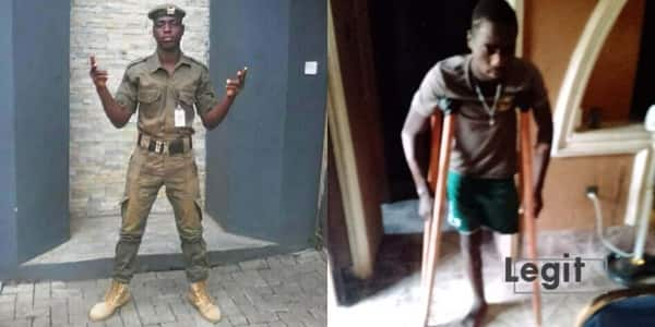 Security man whose leg was amputated after accident seeks help to pay hospital bill