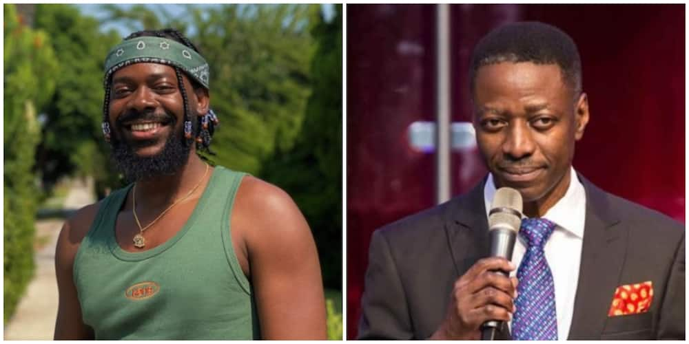 Pastor Adeyemi drops hilarious response after Adekunle Gold offered him 'cold beer' over #EndSARS comment