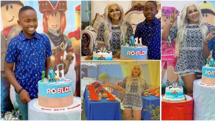 Mercy Aigbe organises intimate party for son and his friends as he celebrates 11th birthday