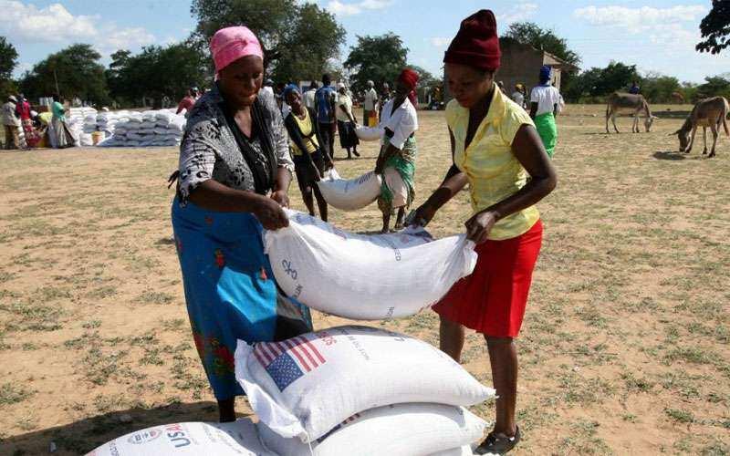 Agajin kayan abinci da Hukumar WFP ta yi a kasar Zimbabwe Hoto daga WFP