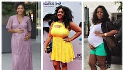 Pregnant ladies look stunning in latest lace styles for pregnant ladies