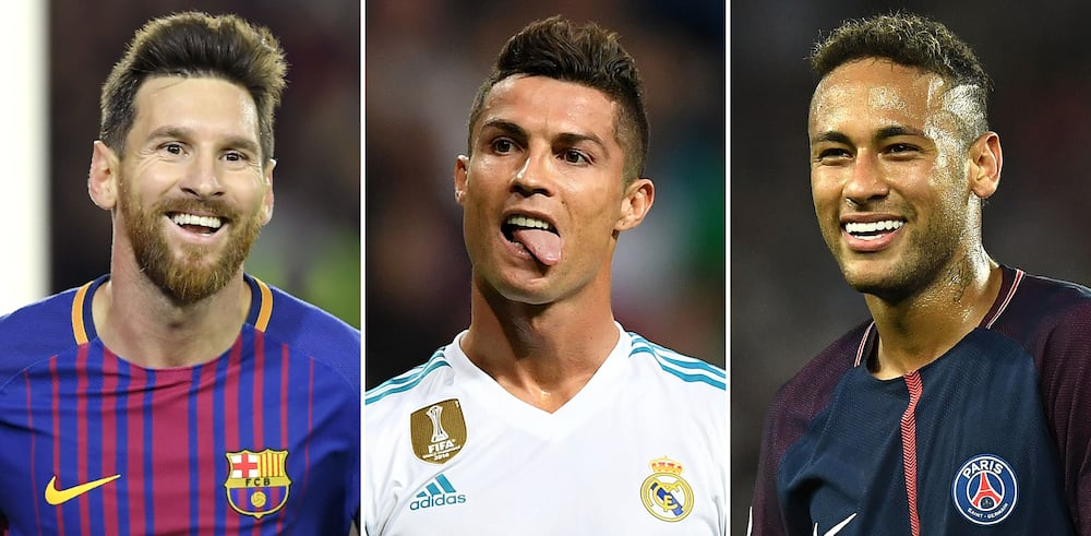 Messi, Ronaldo and Neymar