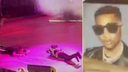 Emotional fan who paints Wizkid's portrait prostrates for him, Starboy returns the gesture (photo, video)