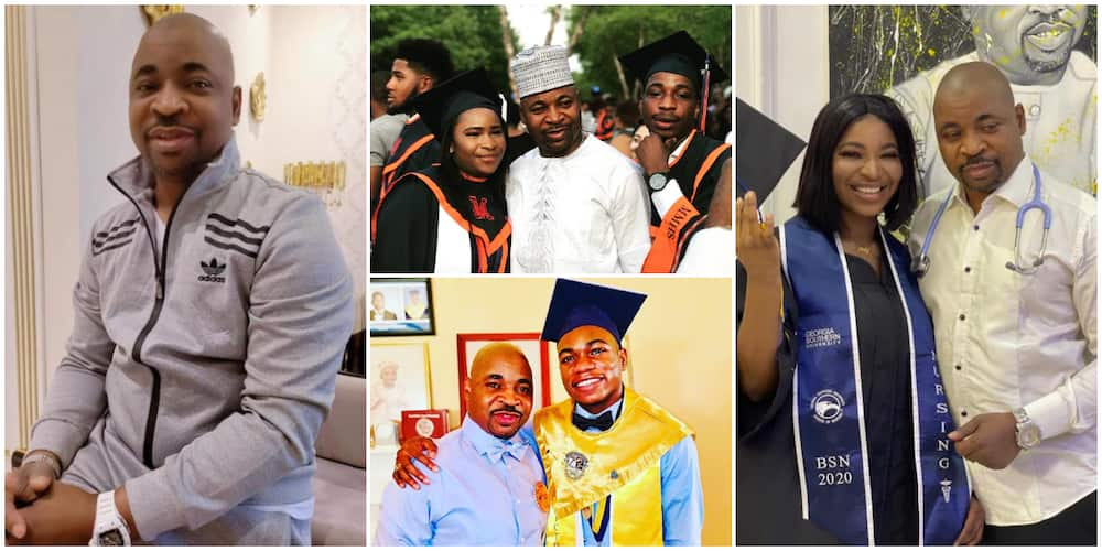 Proud father: 4 Times MC Oluomo Has Celebrated His Children's Achievement on Social Media