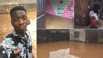 Man cries out after his properties gets flooded due to first rain of the year (photos, video)