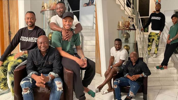 African football star Pele hangs out with his 3 football sons on Fathers Day as photos warm hearts