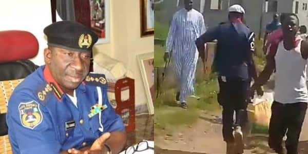 NSCDC dismisses officer caught looting palliatives