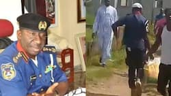 Just in: NSCDC dismisses officer caught looting palliatives with hoodlums in Abuja (video)