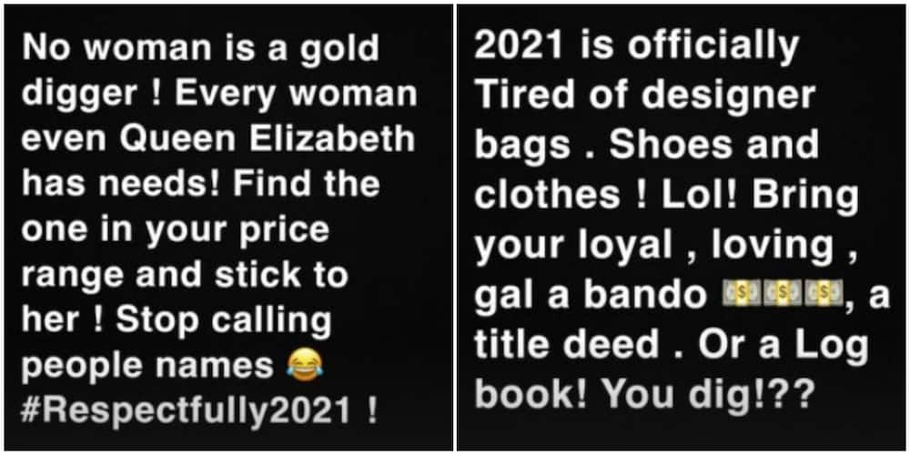 Kenyan socialite Huddah Monroe: No woman is a gold digger