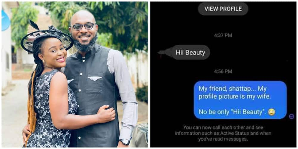 Nigerians react as man stuns the internet with DM he got after changing profile to wife's own