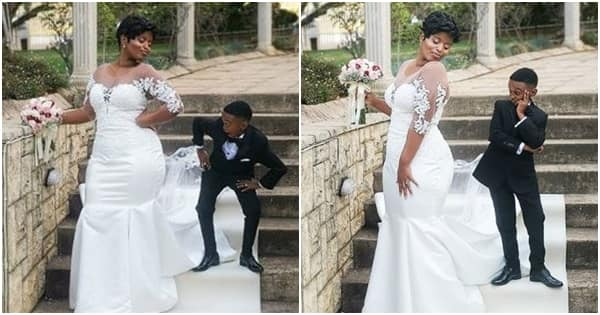 Childlike Zimbabwean actor Themba weds the love of his life at beautiful ceremony