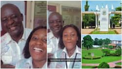 Nigerian Father & daughter graduate from university on the same day after they've been classmates for 5 years