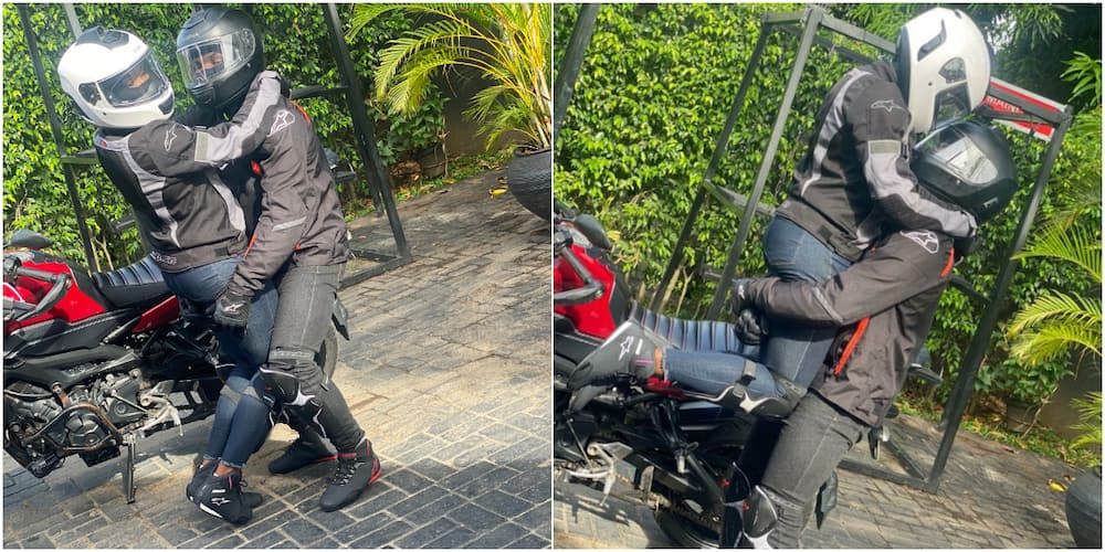 Nigerian lovers who're crazy about power bike set to get married as cute loved up photos light up the internet