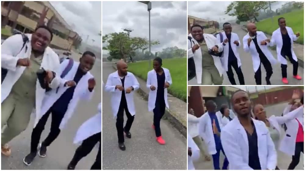Nigerian doctors dance to Naira Marley I'm Coming Song, shows off creative dance moves