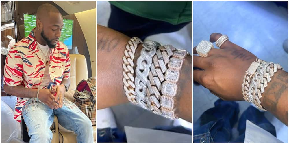 For the Umpteenth Time, Davido Visits Luxury Jeweller Abroad, Splashes Millions on New Set of Hand-Chains
