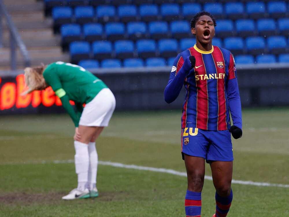 Oshoala scores as Barcelona maintain 100% record in the league