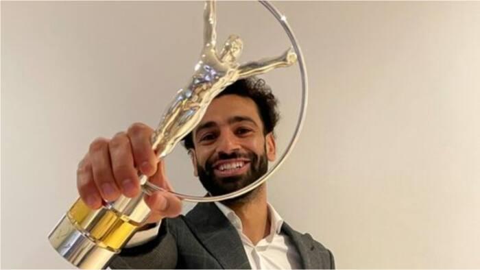 Jubilation as Liverpool star presented with prestigious Laureus Sporting Inspiration award
