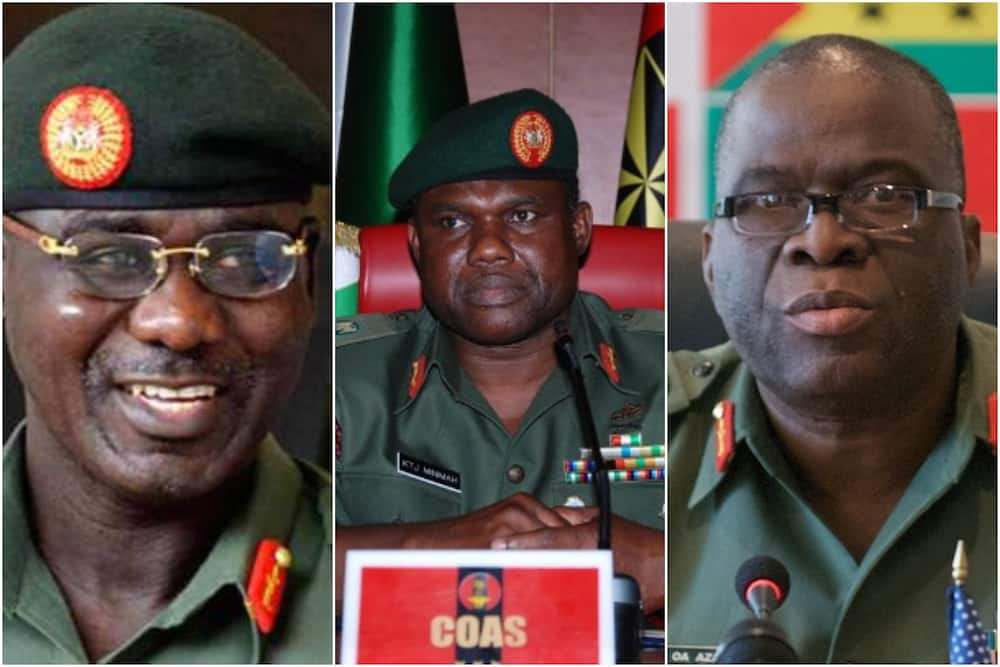 Meet 10 former Nigeria Chief of Army Staff who served between 1999 and 2021