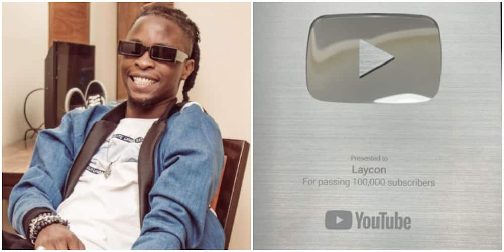 BBNaija's Laycon Ecstatic as He Hits over 100k Subscribers on YouTube, Shows off Plaque