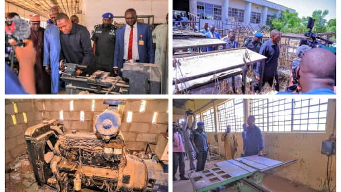 Surprise visit: Nigerian governor suspends entire management of 'dead' polytechnic, shares photos
