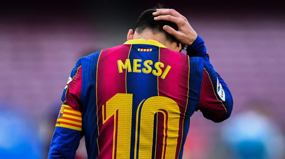 Tears Outside Camp Nou As Barcelona Fan Parks Outside and Filmed Crying While Holding Lionel Messi Jersey