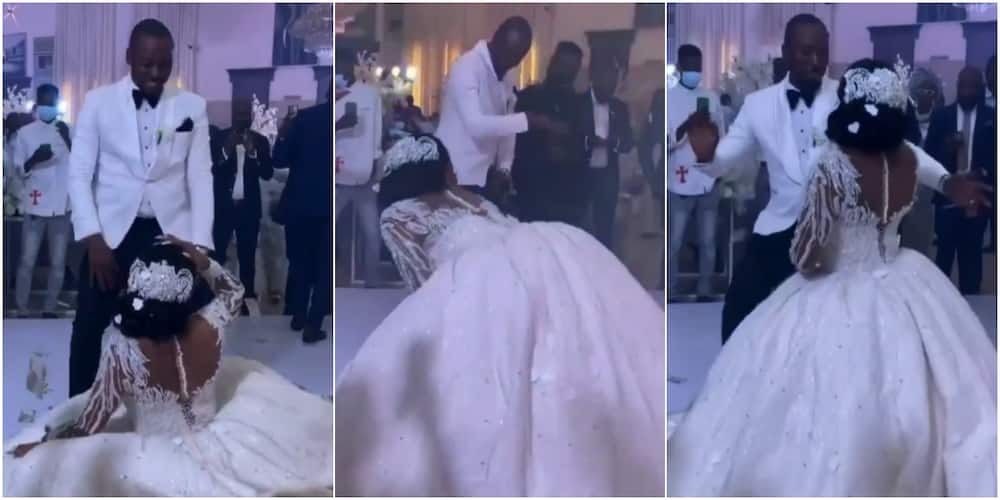 The bride has got people talking on social media with her dancing skills