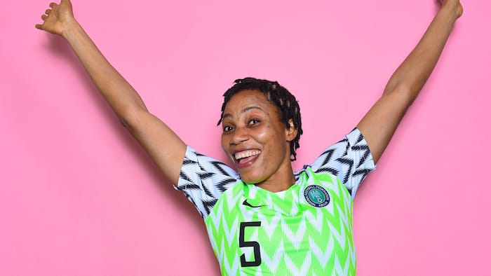 Top Nigerian footballer attacks fan who told her to retire from national team at 38