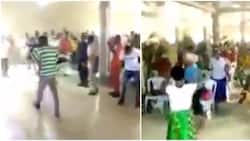 Viral video of church members praying and armed with different weapons to attack principalities cause stir