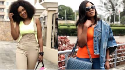 Omoni Oboli flaunts flat abs, praises herself for keeping fit after giving birth to 3 grown boys (photos)