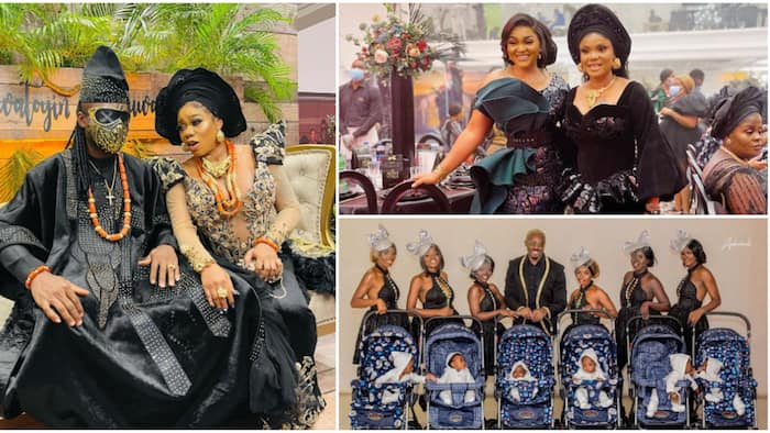 ICYMI: All the glitz and glamour from Toyin Lawani's black-themed wedding party