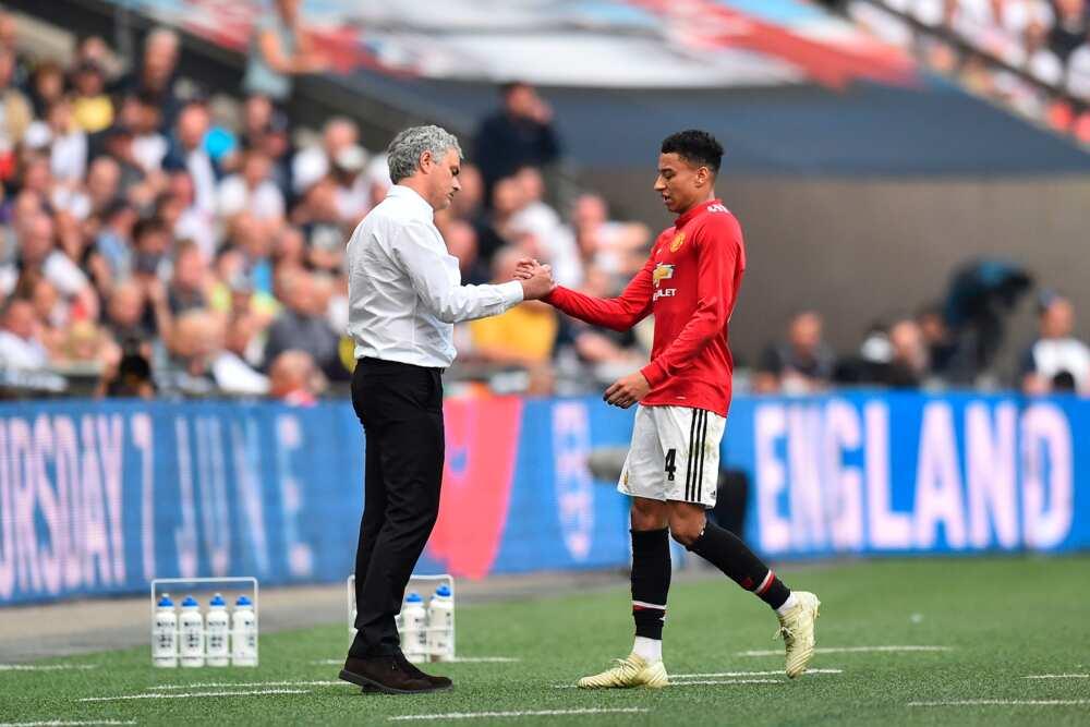 Jesse Lingard and Mourinho