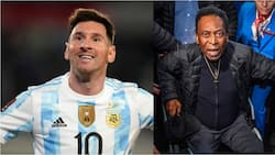 Lionel Messi responds after Brazilian legend Pele earlier claimed the Argentine only shoots with one leg