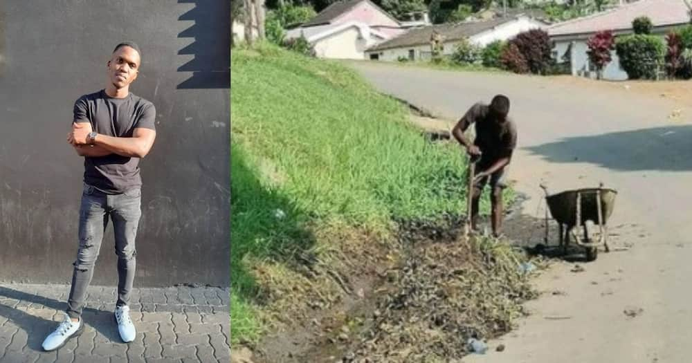 Qualified man lauded for spending free time keeping his area clean