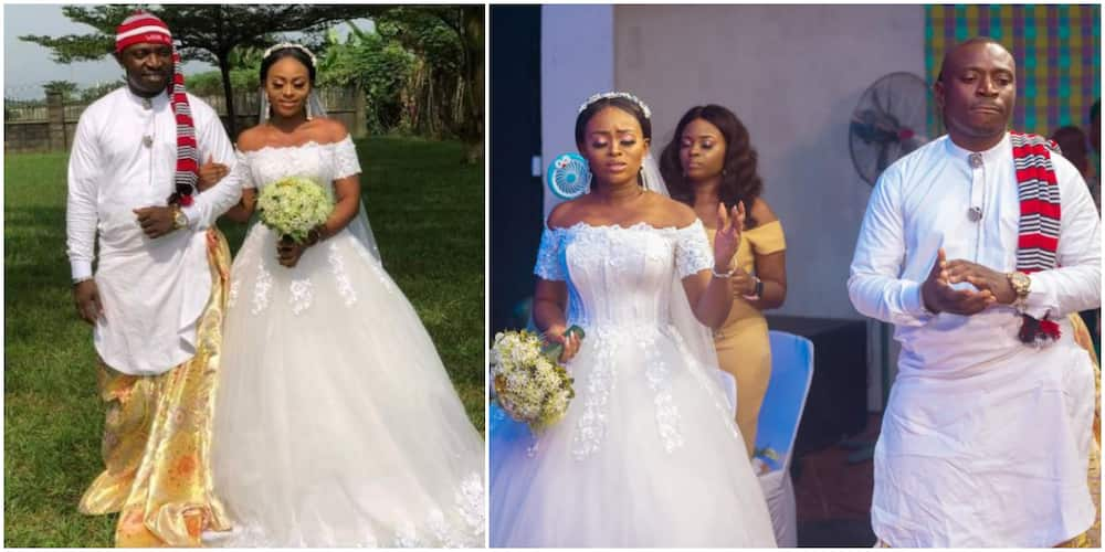 Nigerian man ties wrapper to his white wedding ceremony (photos)