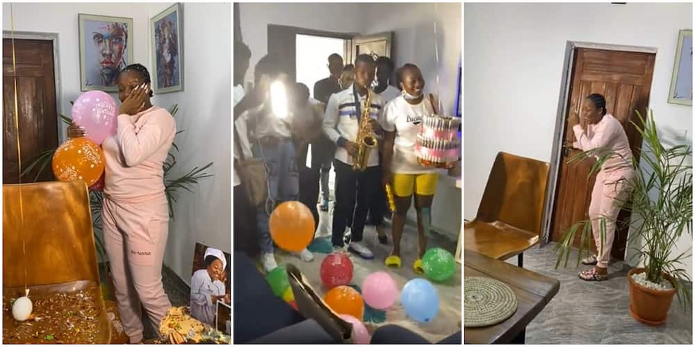 BBNaija Lucy shares video as fans surprise her with money cake on her birthday