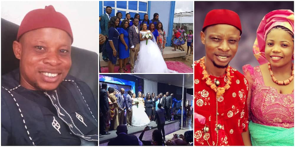 Reactions as Nigerian man shares wedding photos as he exposes pastor of marrying his wife of 12 years