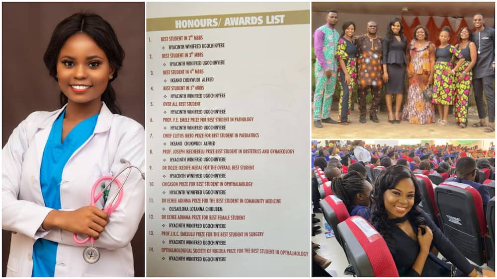 Young lady makes mum cry for joy as she becomes doctor, gets 11 awards