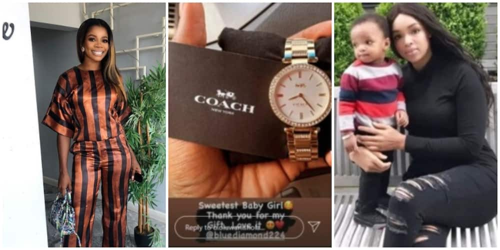 Wizkid's second baby mama gifts first baby mama luxury wristwatch