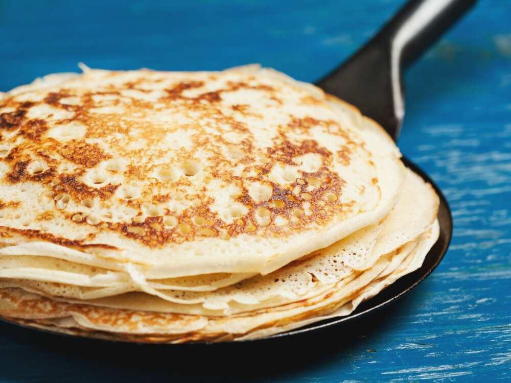 prepared Nigerian pancakes