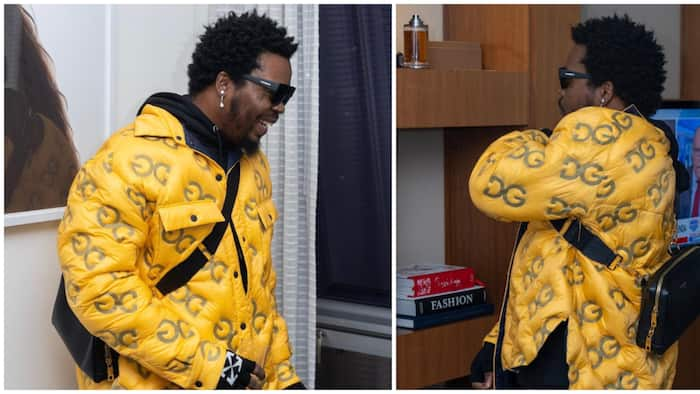 He's wearing a plot of land, rapper Olamide turns heads as he steps out in D&G jacket worth over N1 million