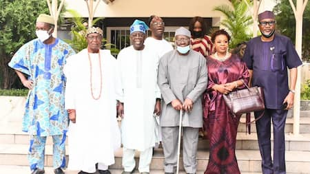 Just in: Afenifere chieftains visit APC leader Tinubu in Lagos amid 2023 presidential speculations