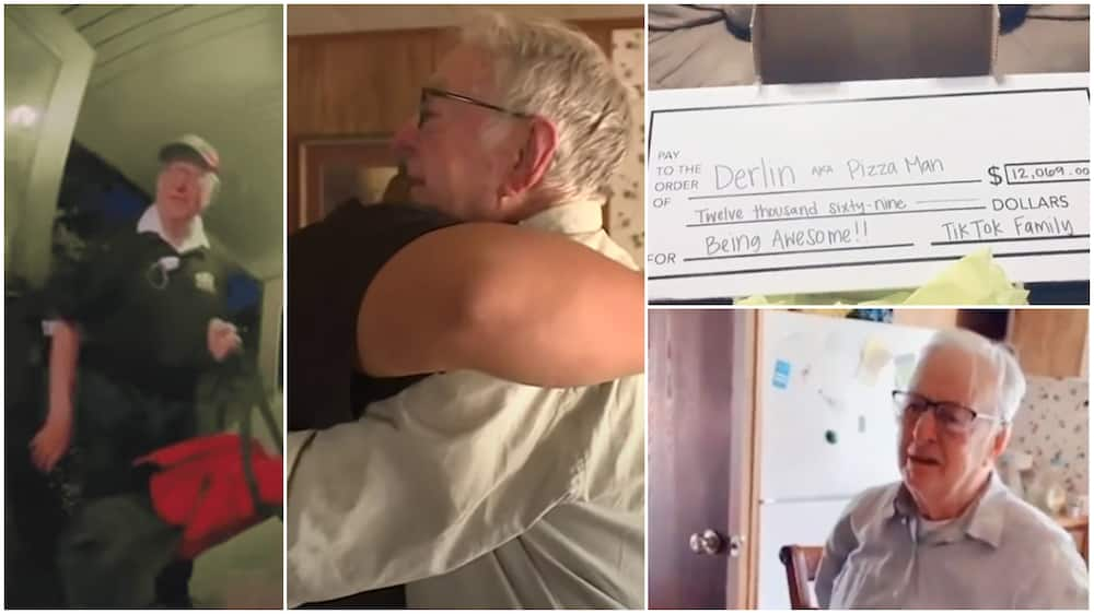 89-Old-Man Who Always Delivers Pizza to Customer With Big Small Gets N4.9m Surprised Gift, Cries in Video