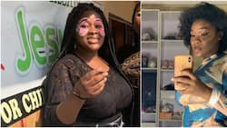 Massive reactions as Nigerian lady loses 34kg, lights up social media with adorable transformation photo