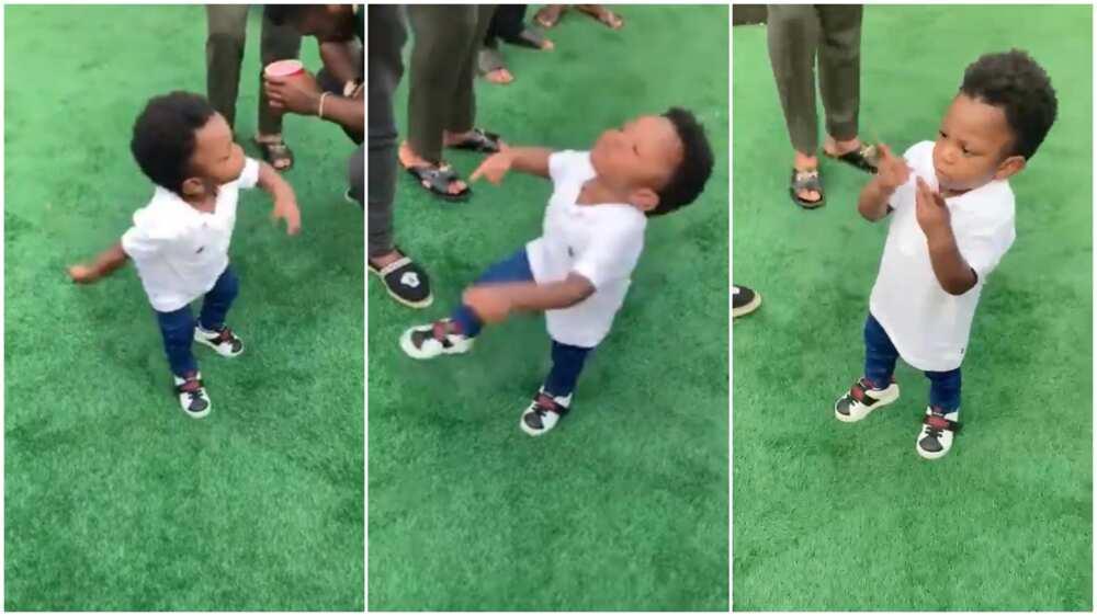 Kid dances to Naira Marley Mafo at party, wows adults present
