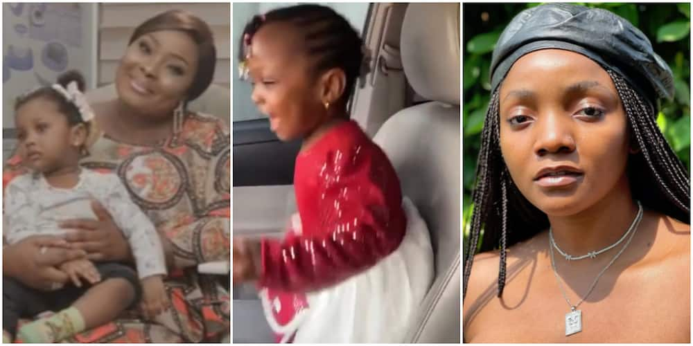Actress Ronke Odusanya Shares Adorable Video of 16-Month-Old Daughter Passionately Singing Simi's Duduke