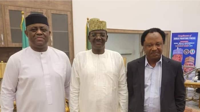 Fani-Kayode, Shehu Sani visit prominent governor who recently left PDP for APC, photo sparks defection speculations